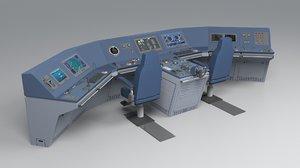 3d modular ship bridge ar