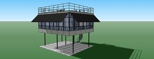 stage house concept 3d 3ds