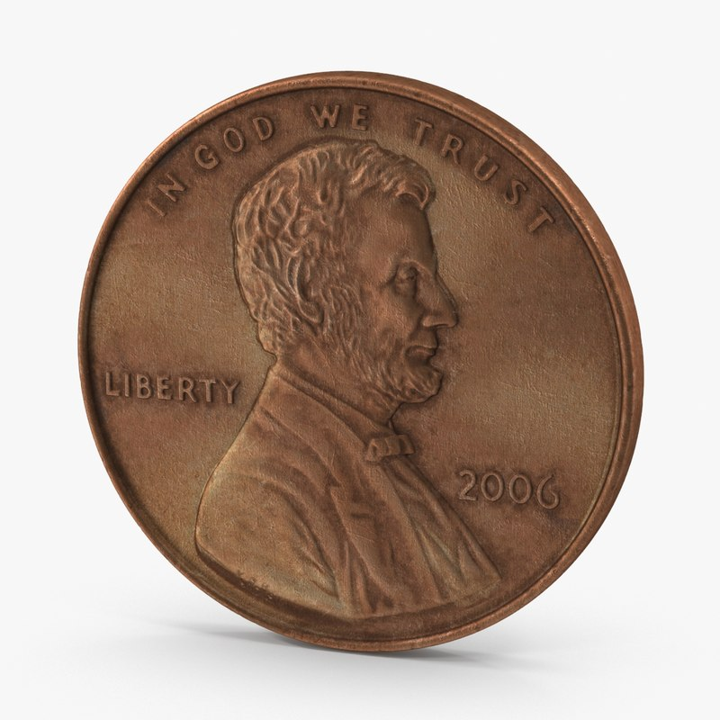 coin aged 3d x