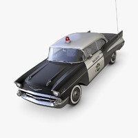 3d model chevrolet bel air 1957