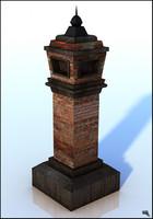 3d model chimney brick