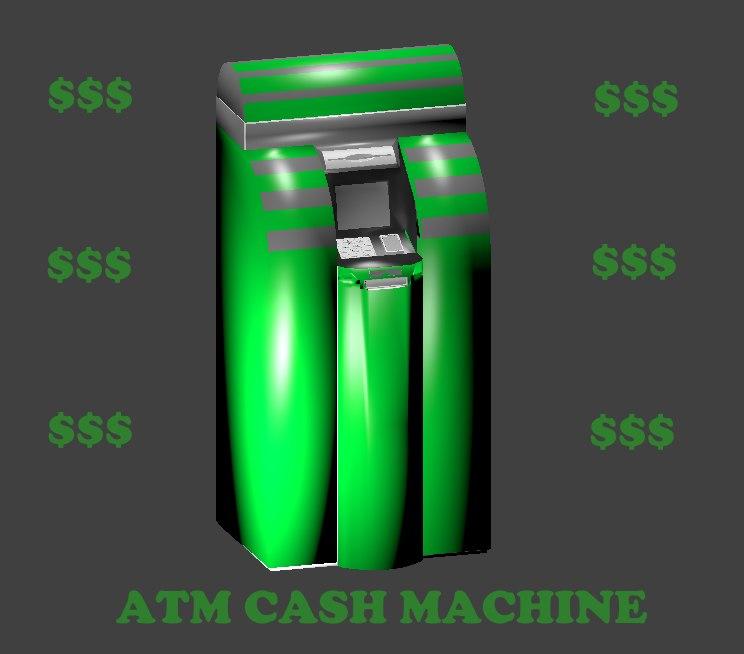atm cash machine 3d obj