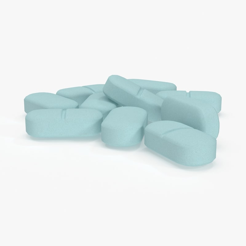 3d model of long pills