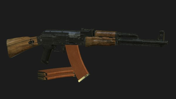 3d model kalashnikov assault rifle