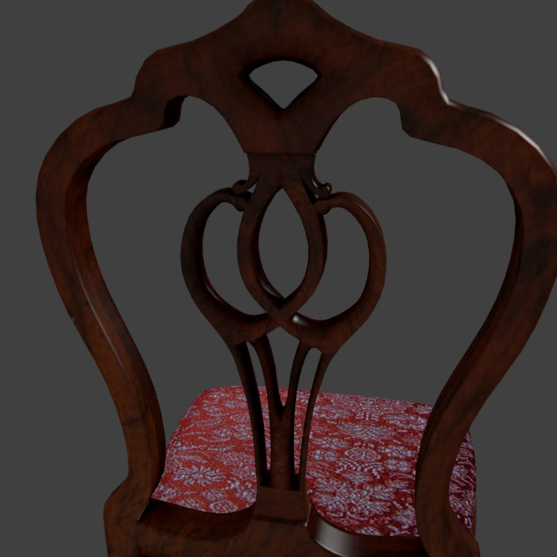 wooden chair 3ds
