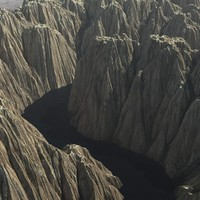 3d mountain range river terrain model