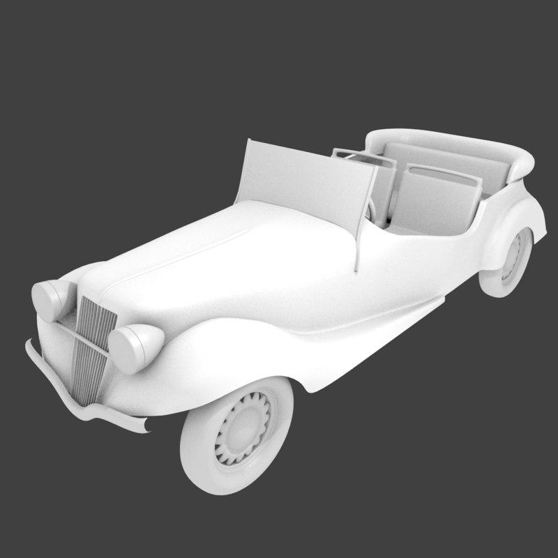 antique royal car 3ds