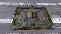 sci fi hatchway obj