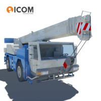 3d rigged mobile crane vehicle model