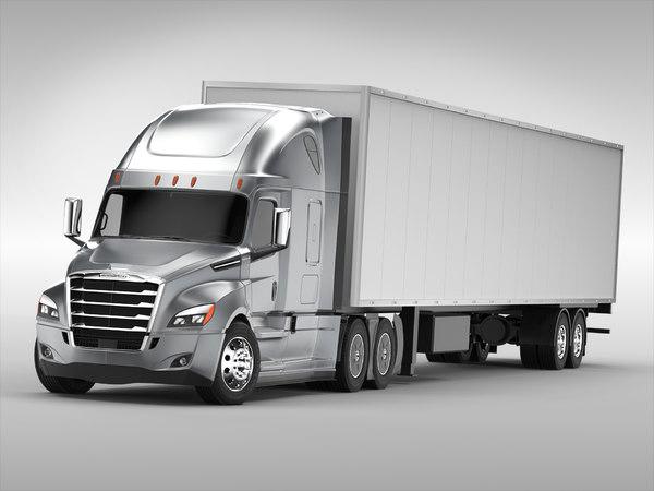 freightliner truck 3d c4d