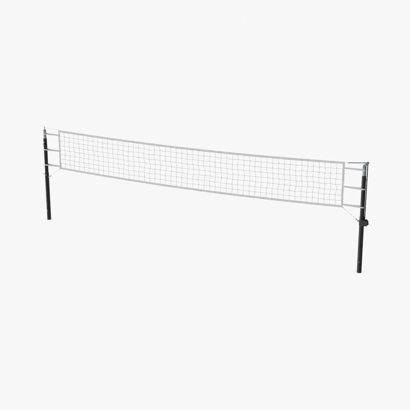 3d max volleyball net