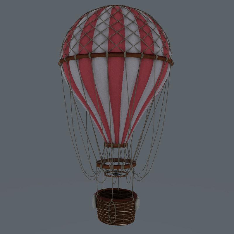 3d vintage air balloon