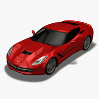 3d chevrolet corvette stingray c7