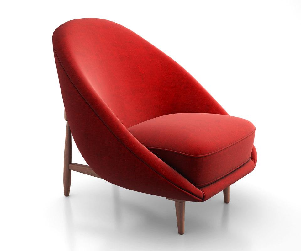 club lounge chair 3d max