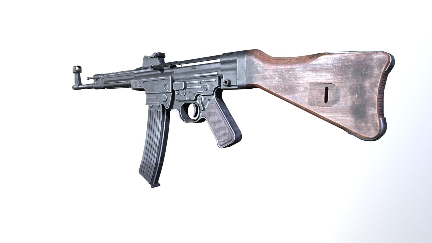 3d model world war rifle
