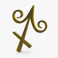 3d astrological signs zodiac sagittarius