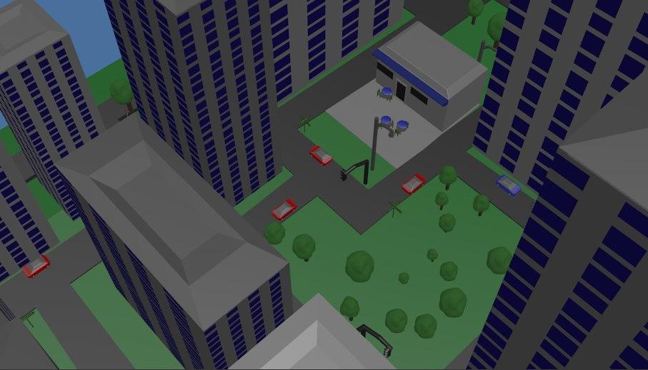 3d city coffee shops