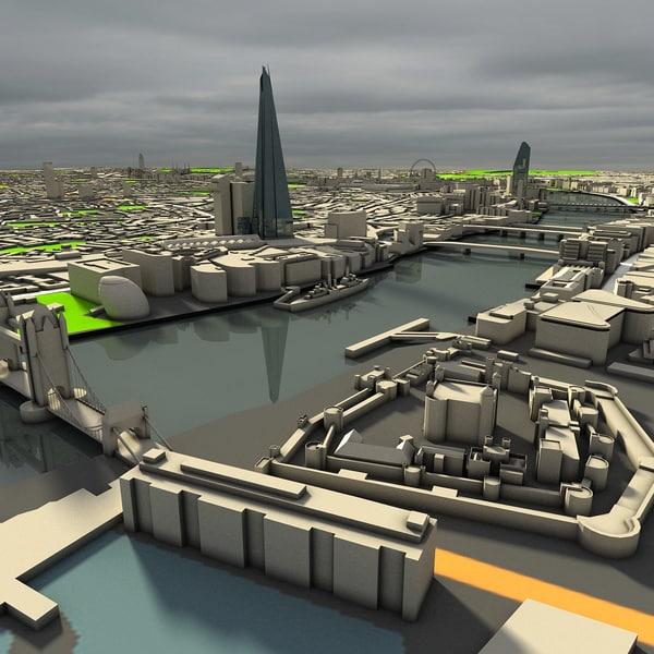 3d city newyork london model