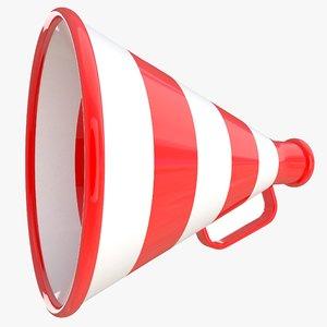 old megaphone 3d x