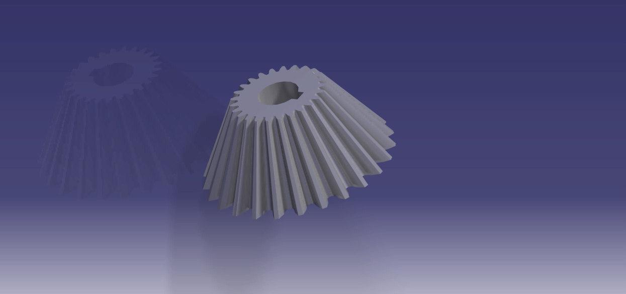 3d bevel gear model