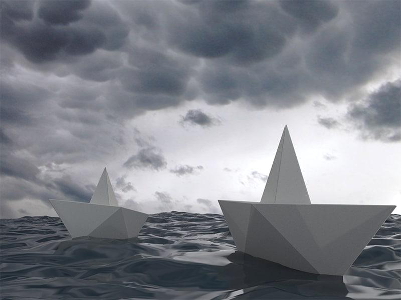 3d boat origami