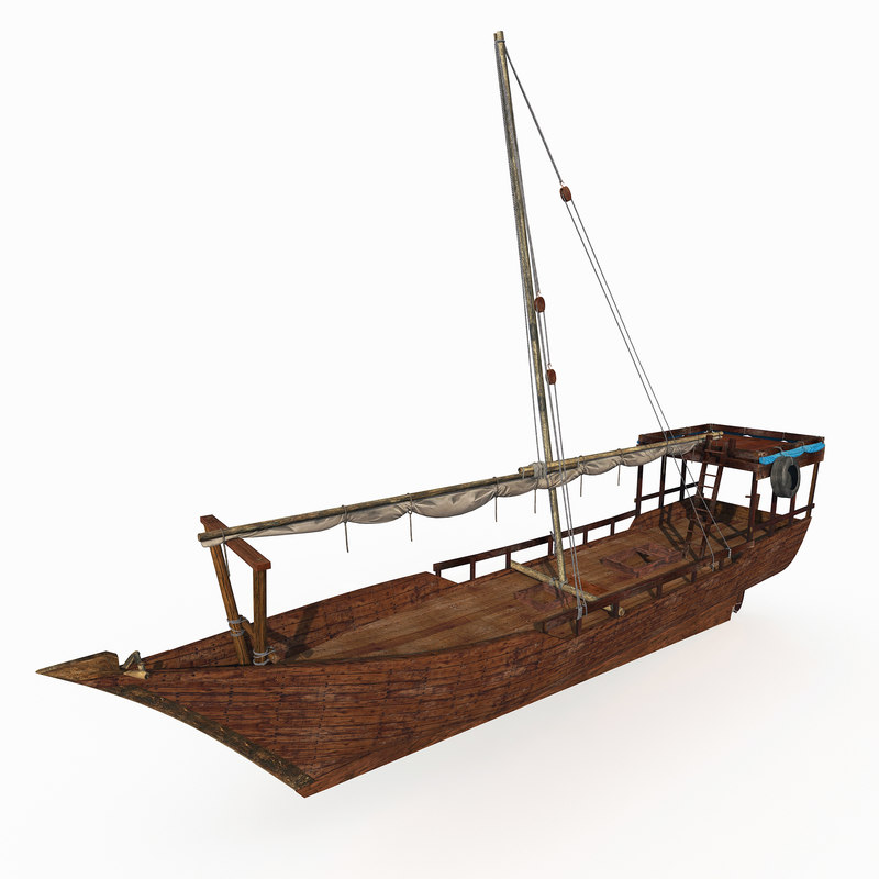 3d model dhow boat