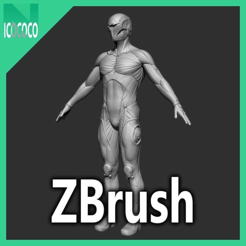 Cyber ninja Character - Zbrush highpoly