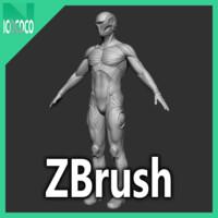 zbrush cyber ninja character 3d model