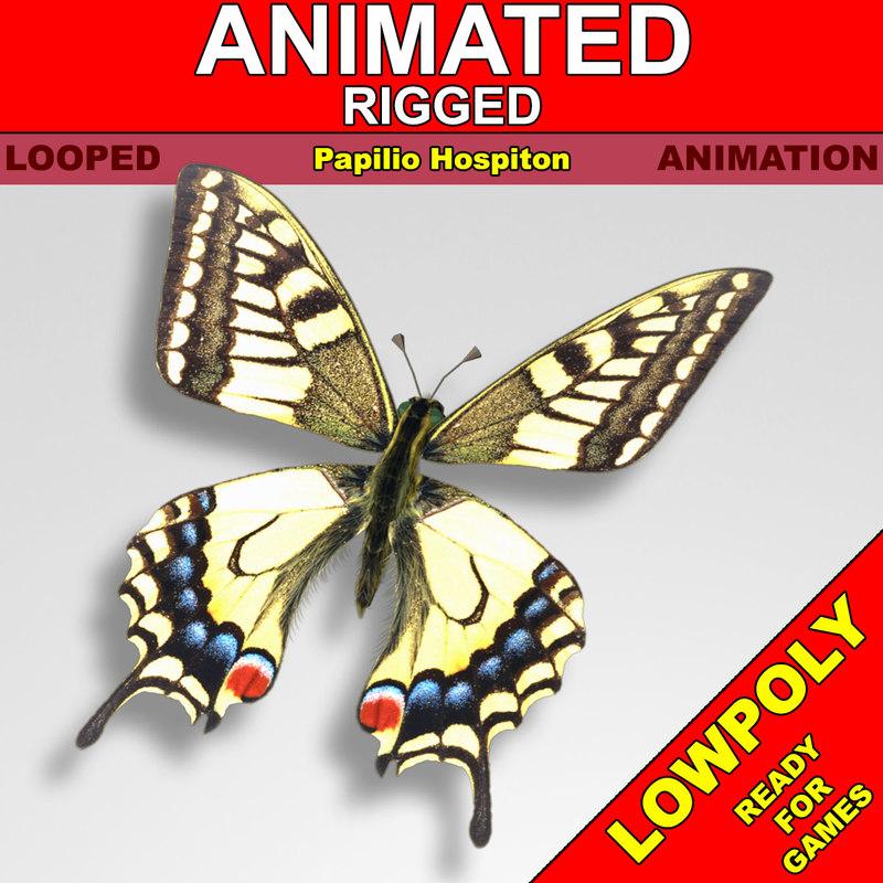 3d butterfly fly model
