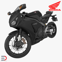 Sport Motorcycle Honda Fireblade 2017 Rigged 3D Model
