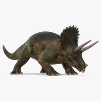 3d max triceratops walking pose
