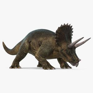 3d max triceratops walking pose