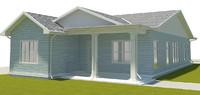 modern villa 3ds
