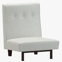 3d model jens risom slipper chairs