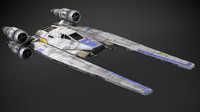 star wars u-wing 3d x