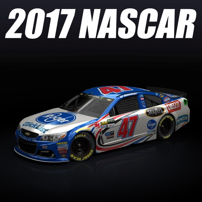 3d nascar 2017 chevy car model