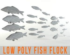 3d fish flock