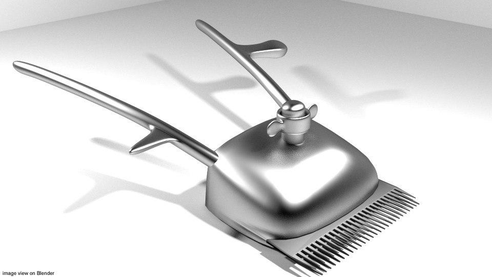 barber clipper 3d model