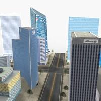 3d city 01 modeled