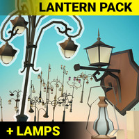 lantern props pack 3d max