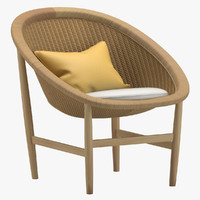 3d nanna ditzel chair model