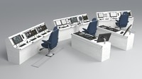 ship bridge control room 3d max