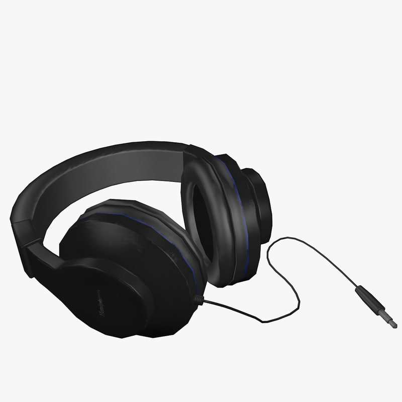 headphones head 3d max