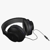 headphones head 3d max