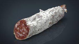 3d fuet salami spanish model