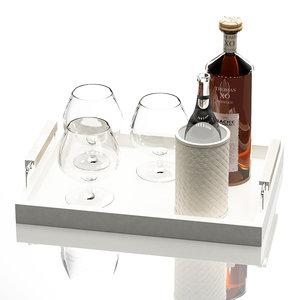 3d tray cognac water