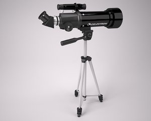 3d model telescope celestron 21035 70mm