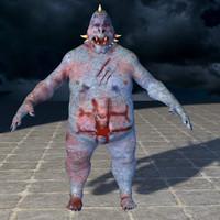 3D model Minion zombie