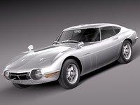 1967 toyota 2000 3d model