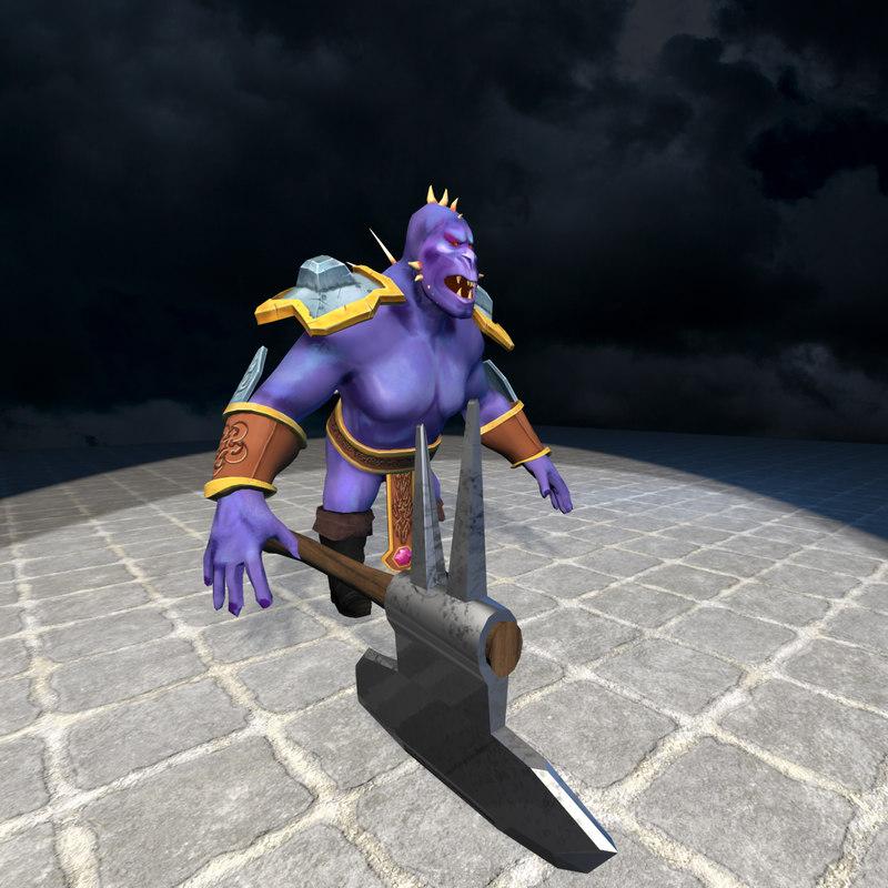 3d character minion warrior